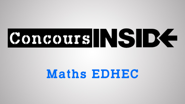 Maths EDHEC 2016