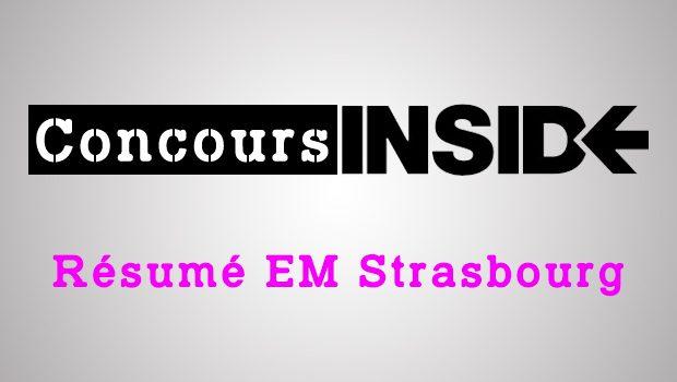 Résumé EM Strasbourg 2016 – Analyse du sujet