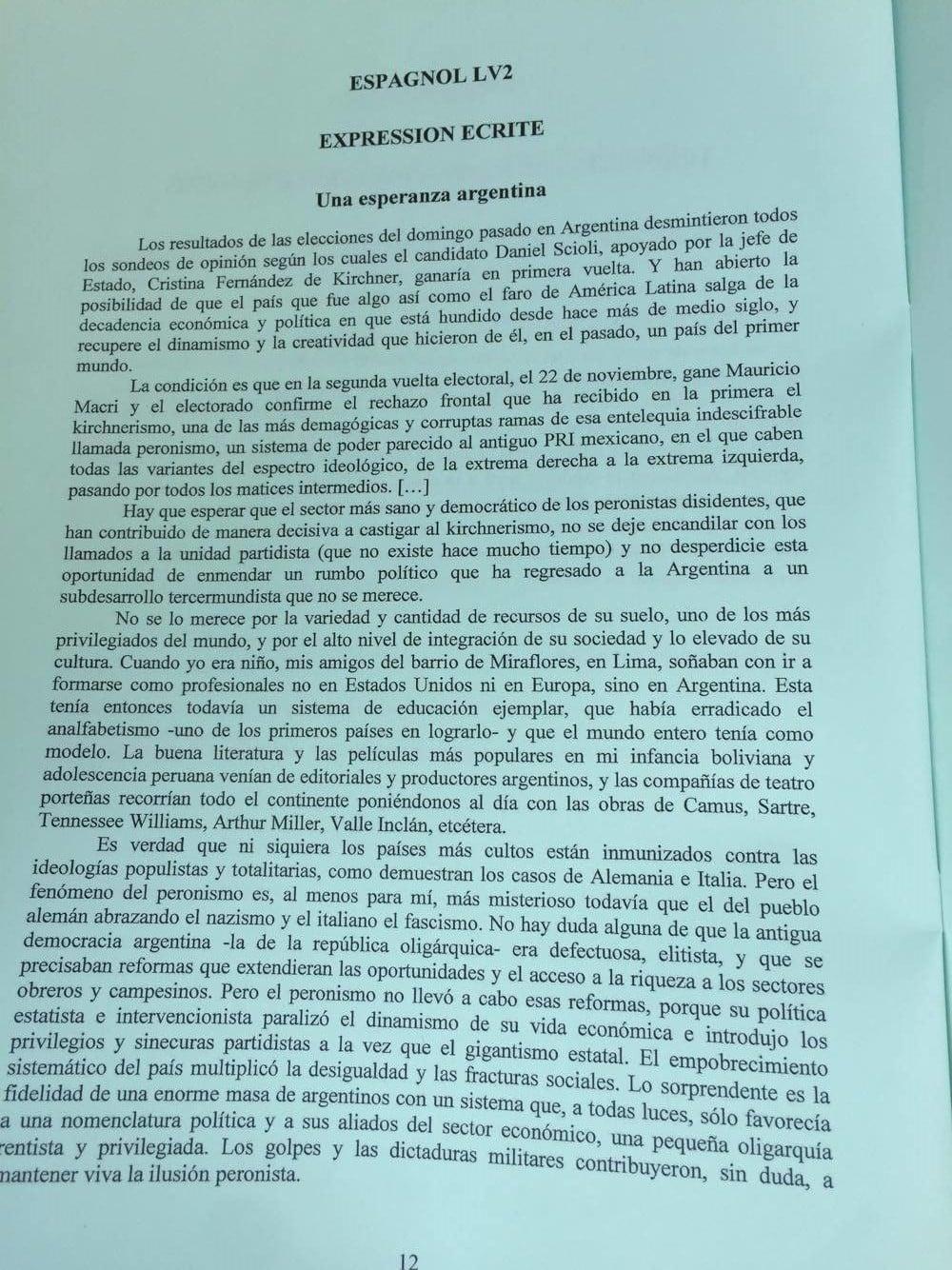 Sujet Espagnol LV2 CCIR 2016 - Page 3