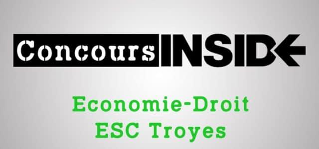 Eco-droit SCBS (ESC Troyes) 2018 – Analyse du sujet
