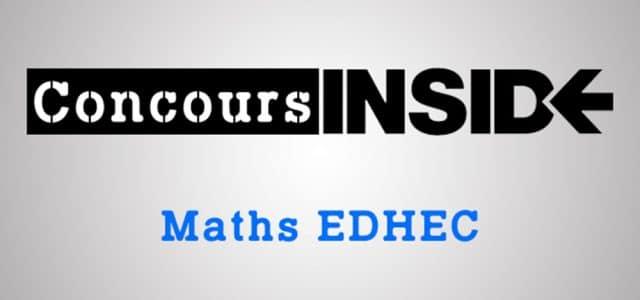 Erreur de sujet pour les maths EDHEC !