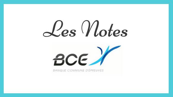 Les notes BCE 2019 sont en ligne !