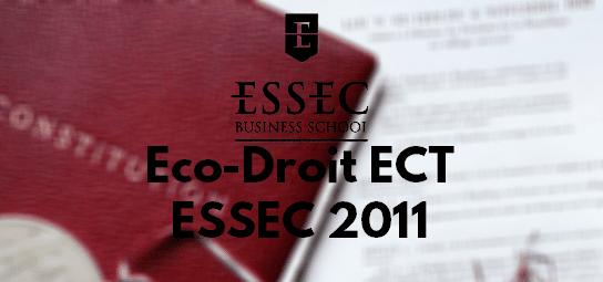 Eco Droit ESSEC 2011 – Rapport de Jury