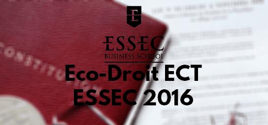 Eco Droit ESSEC 2016 – Rapport de Jury