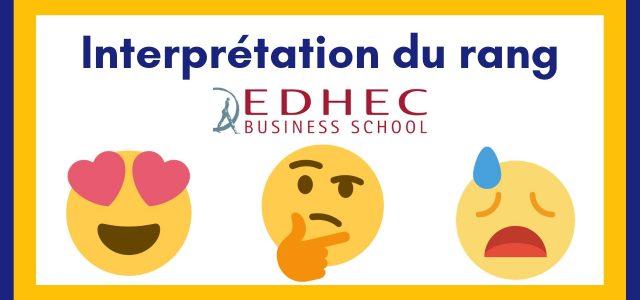 Interpréter son rang EDHEC 2019