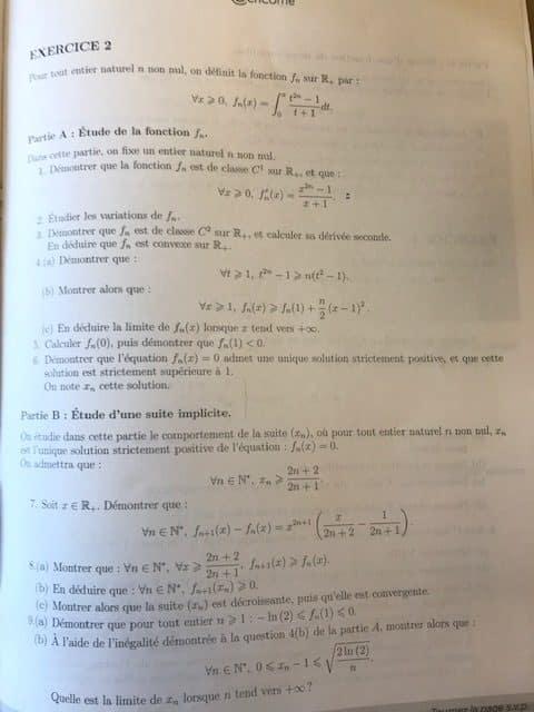 maths ecricome ece 2020